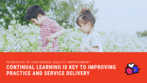 PRINCIPLES OF CONTINUOUS QUALITY IMPROVEMENT Continual learning is key to improving practice and service delivery