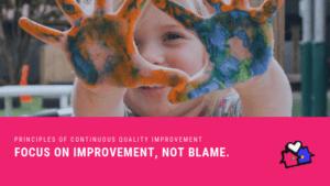 PRINCIPLES OF CONTINUOUS QUALITY IMPROVEMENT Seek improvement, not blame
