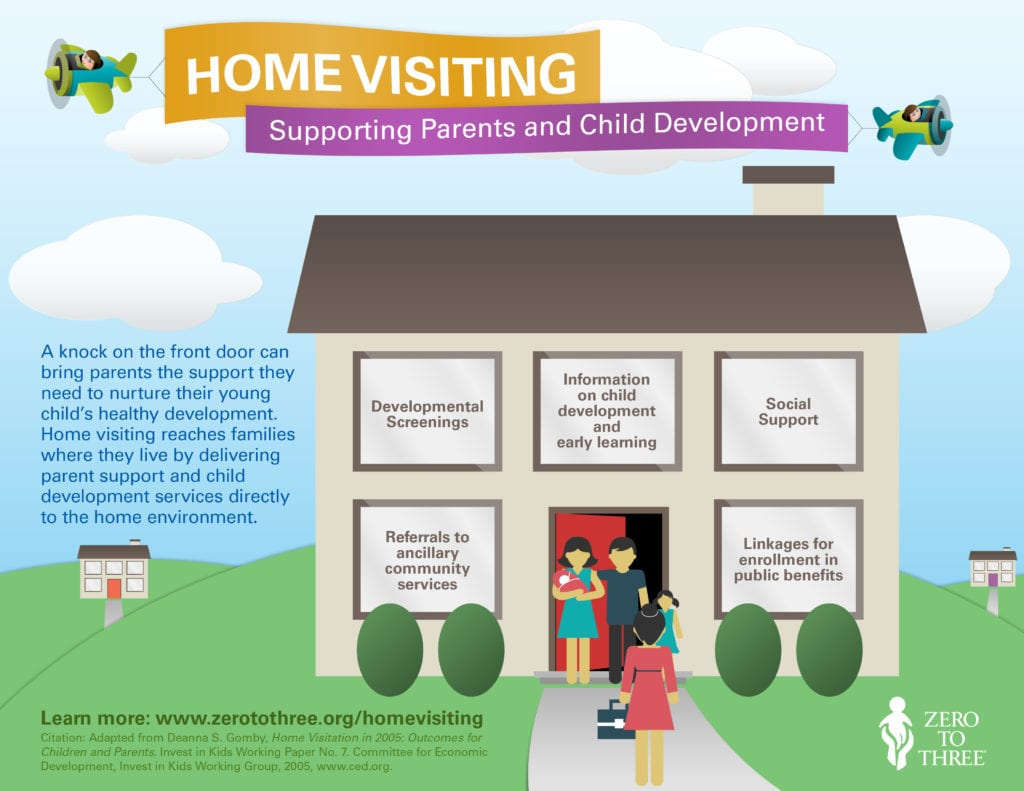 Home Visiting Infographic from Zero to Three